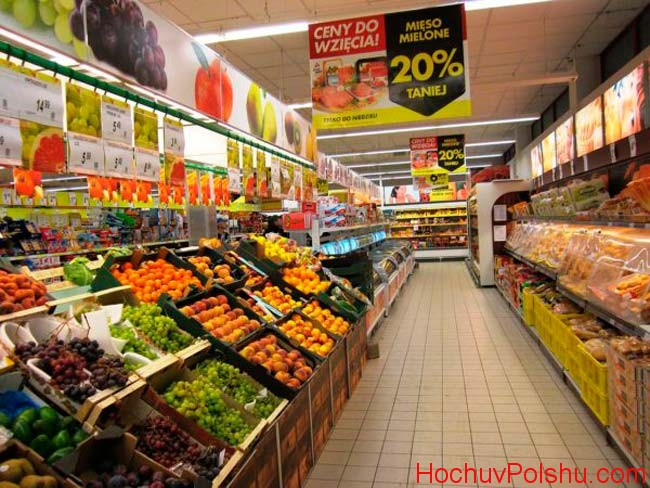 Ціни на продукти харчування в Польщі