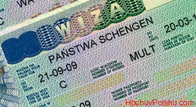 стоимость виза для россиян 2017 Польшу