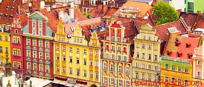 польский городок, пейзаж