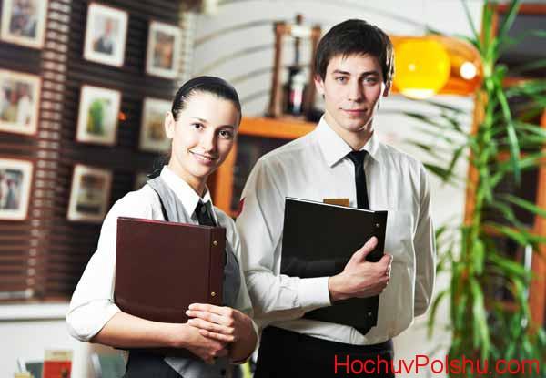 официанты в Польше