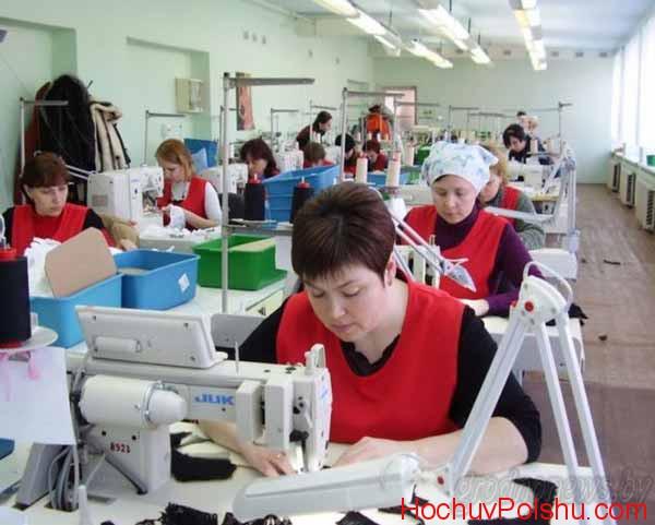 Фабрики города Гданьска постоянно нуждаются в умелых швеях