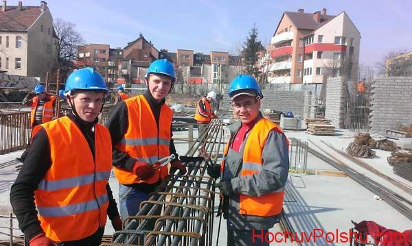 работа строителя в Катовице в Польше
