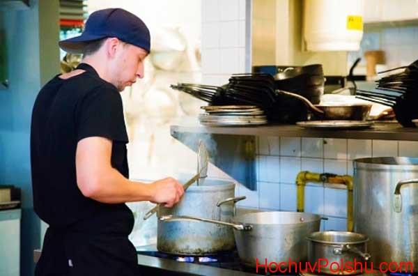 Описание работы помощника повара