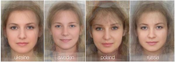 Сравнение черт лица женщин из разных национальностей